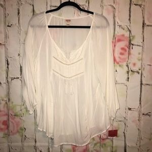 NWT Cream bohemian shirt